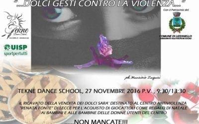 """A Lizzanello """"…Dolci gesti contro la violenza"""" con Tekne Dance School"""