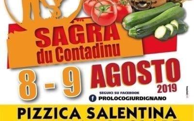 """Giurdignano: 8 e 9 agosto la """"Sagra du Contadinu"""""""